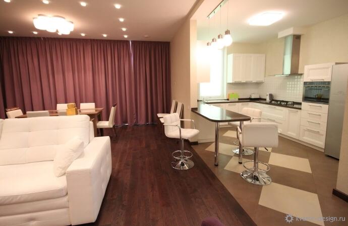 Дизайн кухни-гостиной (85 фото): идеи интерьера кухни, совмещенной ... | 450x690