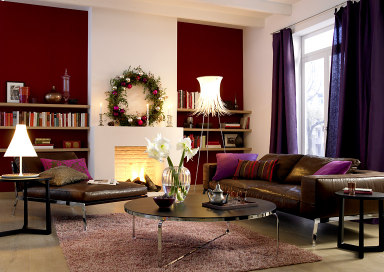Design : Wohnzimmer Wandfarbe Rot ~ Inspirierende Bilder Von ... Dunkelrote Wandfarbe Fr Wohnzimmer
